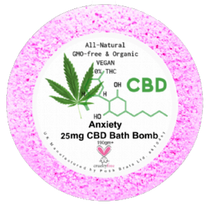 Anxiety CBD Hemp Oil Aromatherapy Bath Bomb - 25mg